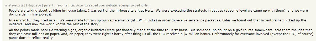 Hertz insider discussion take from a forum